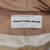Mugler Down coat in gold