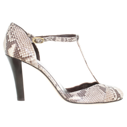 Escada Pumps snake leather