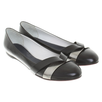 Jil Sander Ballerinas in Black / Silver