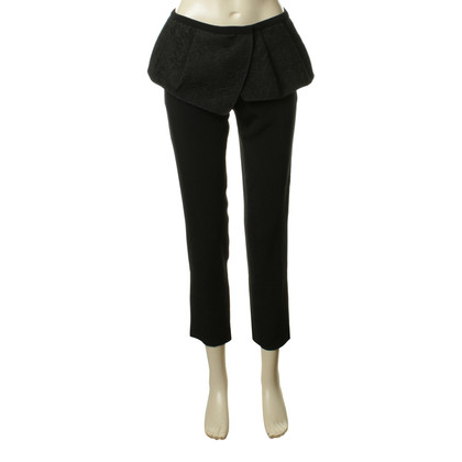 Antonio Berardi Black pants with peplum