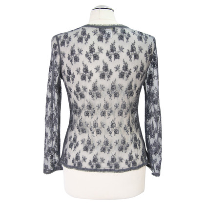 Whistles Transparent jacket with beaded trim