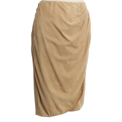 Ralph Lauren Wool skirt made of goatskin leather