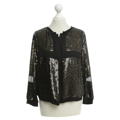 Riani Paillettenjacke in Schwarz-Gold