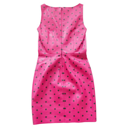 Saint Laurent Lederen jurk in roze / zwart