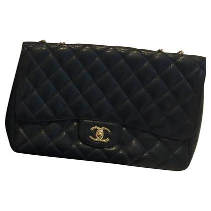 Chanel Flag bag Jumbo caviar leather