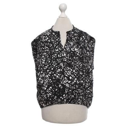 Balenciaga Top in zwart / wit