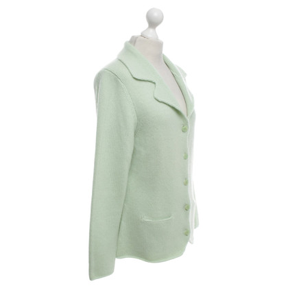 Allude Cashmere cardigan in mint green
