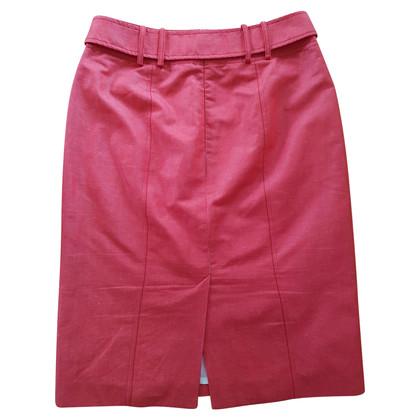 Van Laack Red pencil skirt made of linen