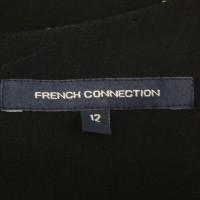 French Connection Seidenkleid in Schwarz