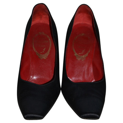 René Caovilla Satin Pumps