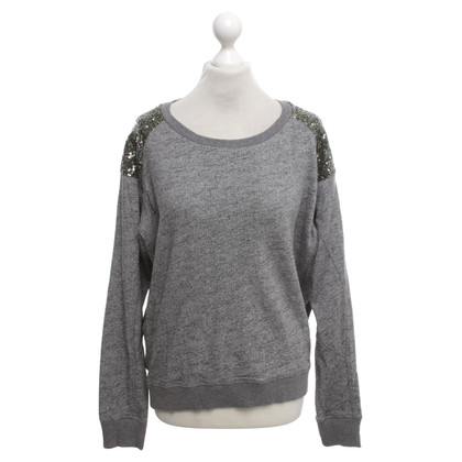 Maison Scotch Sweater in Grau/Schwarz