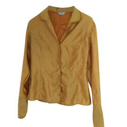 Paul Smith Zijden blouse in geel goud