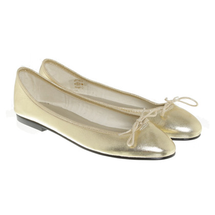 French Sole Gold colored ballerinas