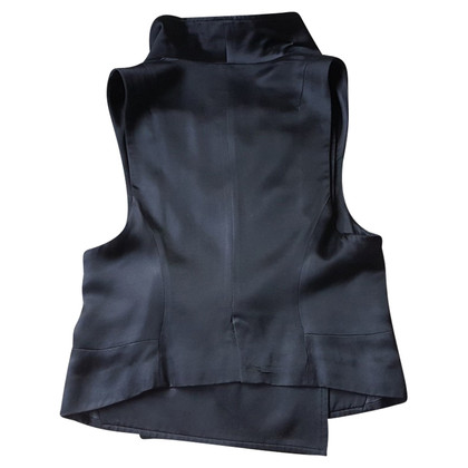 Ann Demeulemeester Black silk vest