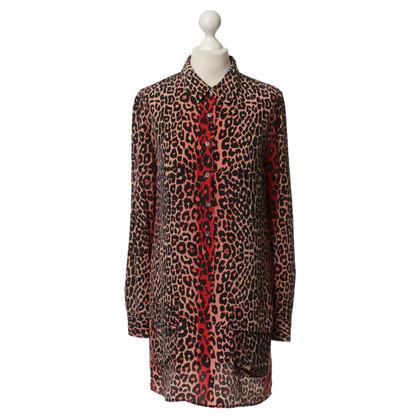 Equipment Animal-print zijden blouse