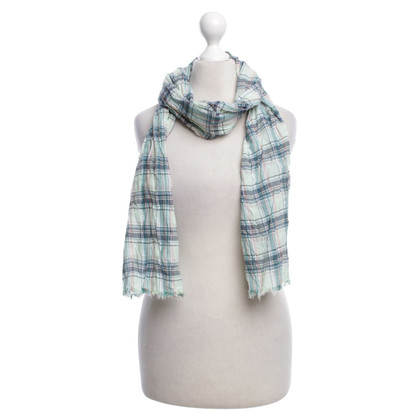 Lanvin Checked scarf in green