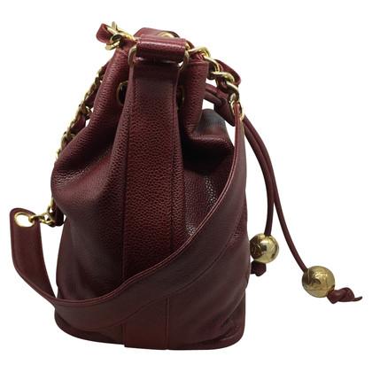 Chanel Chanel bucket burgundy leather