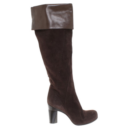 Costume National Wildleder-Stiefel in Braun