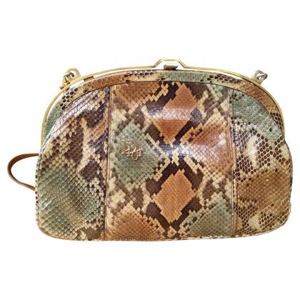 Christian Dior Schouder tas gemaakt van Python leer
