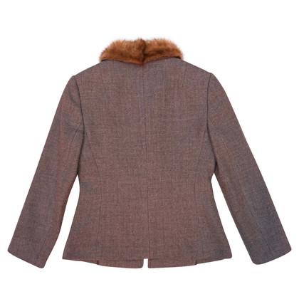 Dolce & Gabbana Kurze Jacke mit Nerzkragen