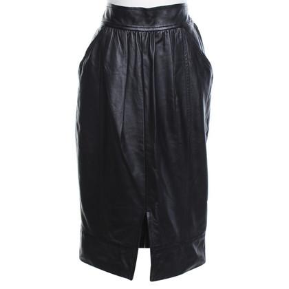 Ferre Lederen rok in zwart