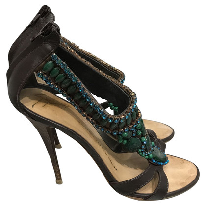 Giuseppe Zanotti Sandals with gemstone trimming