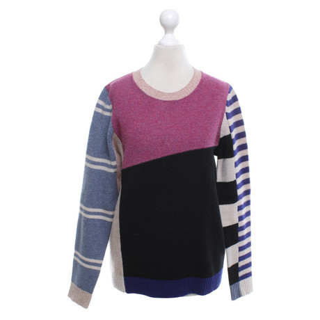 Isabel Isabel Bunt Muster Marant aus Marant Wolle Etoile Pullover Etoile Bunter 4rq4TS