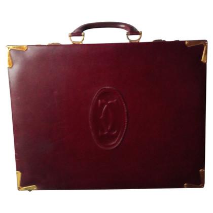 Cartier Briefcase in Bordeaux