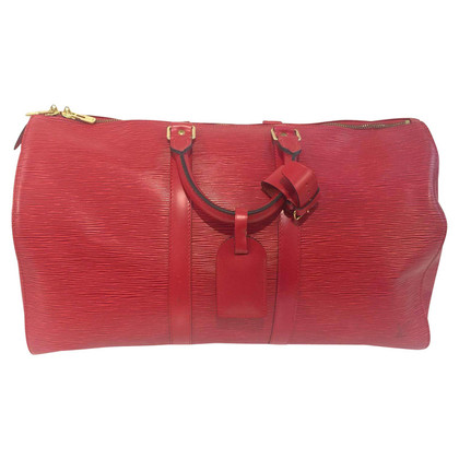 Louis Vuitton Keepall 45 EPI in red