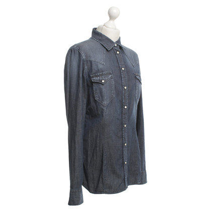 7 For All Mankind Denim shirt in blauw