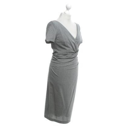 Talbot Runhof Kleid in Schwarz/Weiß