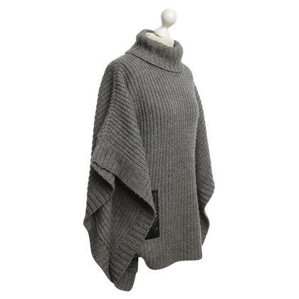 Michael Kors Knit Poncho in grigio