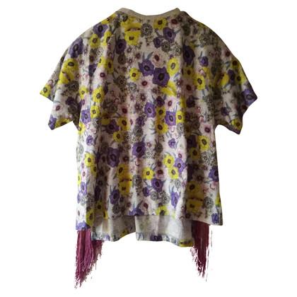 Giambattista Valli t shirt with fringes
