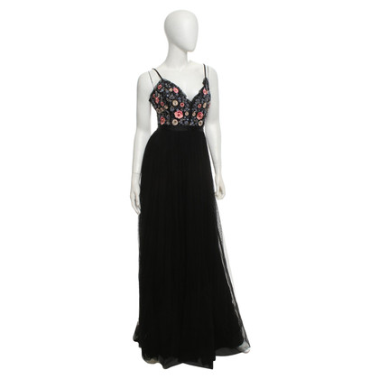 Needle & Thread Evening dress with flower embroidery