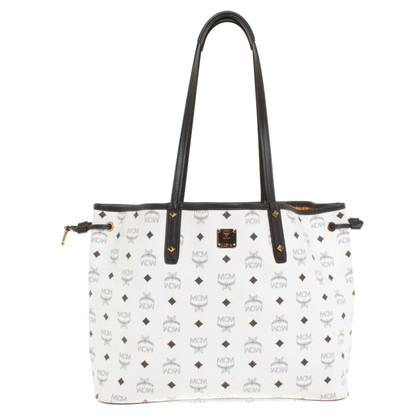 MCM Shopper in white / black