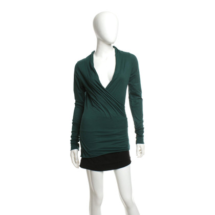 Velvet Top in verde scuro