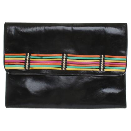 Pollini Handtasche mit Streifen-Applikation
