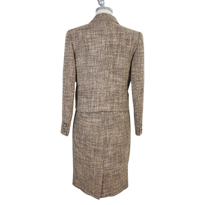 Valentino Valentino brown skirt suit wool