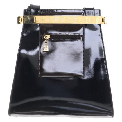 Karl Lagerfeld Patent leather handbag