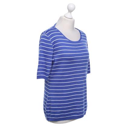 Escada Striped shirt in blue / white