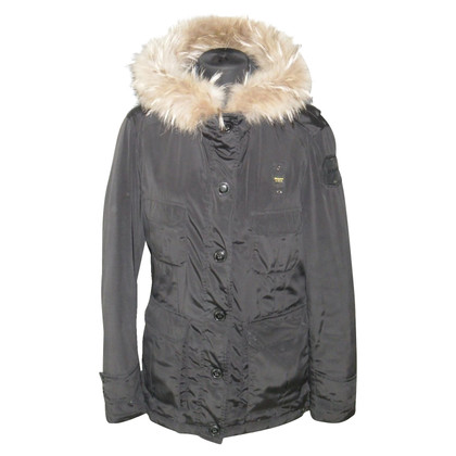 Blauer USA Down jacket with fur trim