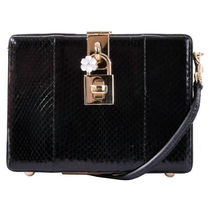 Dolce & Gabbana Tas BOX slangenhuid