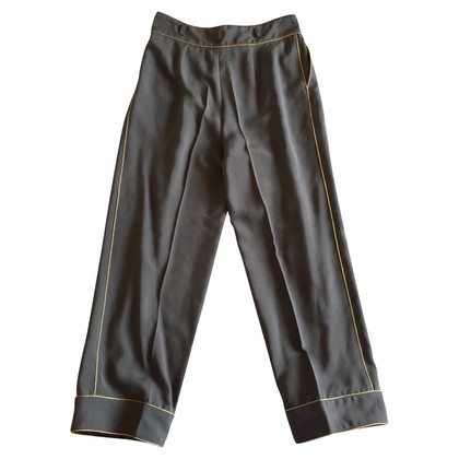 Blumarine Anthracite colored silk trousers