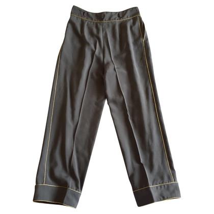 Blumarine Antracietkleurige zijden broek