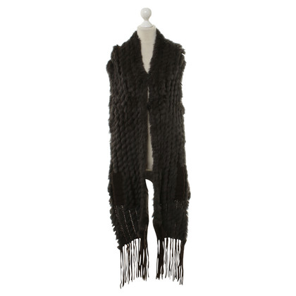 Other Designer Betty Barclay - fur vest in Brown