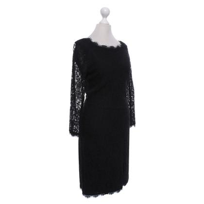 Diane von Furstenberg Kanten jurk in zwart