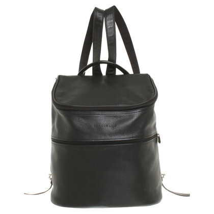 Longchamp Leather backpack in black