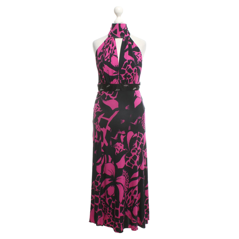 patrizia pepe gemustertes kleid in schwarz pink second hand patrizia pepe gemustertes kleid in. Black Bedroom Furniture Sets. Home Design Ideas