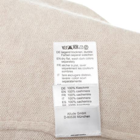 Allude Pullover aus Kaschmir Beige Geschäft Spielraum Beliebt Aussicht Online Kaufen Neue IqEY0y52t0