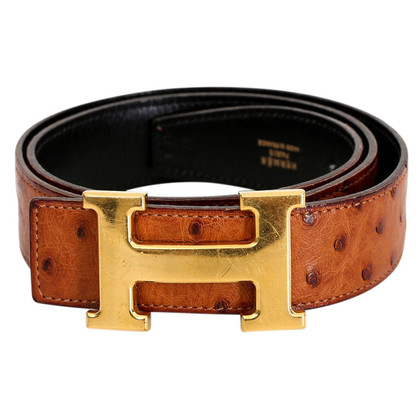 "Hermès ""Constance Belt"" made of ostrich leather"